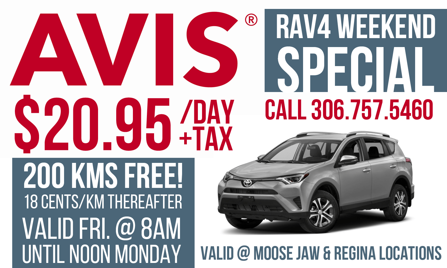 RAV4 Weekend discount coupon1
