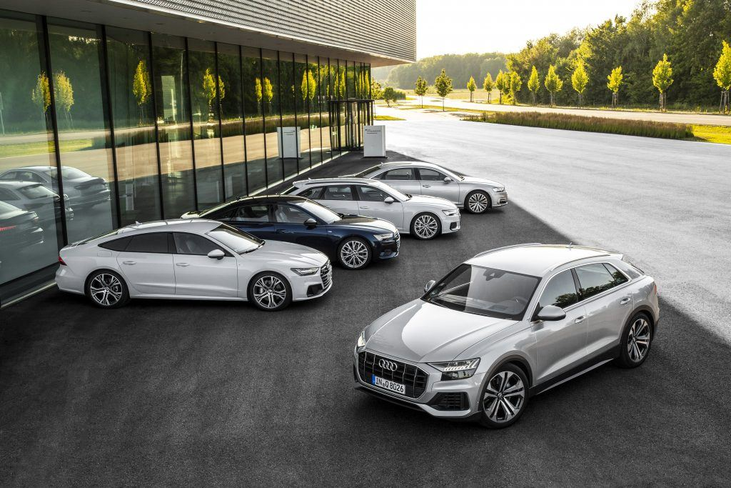 Audi A8, Audi A7, Audi A6 and Audi Q8 – a family with different characters